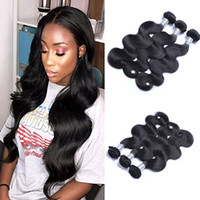 Wholesale Black Brazillian Hair - 8a Mink Brazillian Straight Body Loose Wave Unprocessed Brazilian peruvian indian Human Hair Brazilian Body Wave Straight Hair Weave Bundles