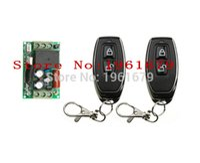 Wholesale Remote Unlock - RF Wireless Remote Control AC 220 V 1 CH 50*30*18 mm 1 Receiver & 2 transmitter Lock unlock remote control