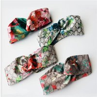 Wholesale pink hair girls resale online - Elastic Headband For men and Women NEW G Letter Sequins design Green red pink Hair bands For Women Girl Retro Turban Headwraps clour