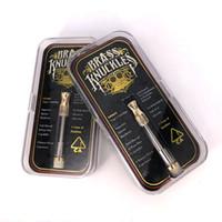 ingrosso migliori cartucce di sigarette e-La migliore vendita Brass Knuckles olio denso di vape Cartucce e sigarette Vape penna atomizzatore 0.5 ml 1.0 ml 4 * 1.0mm vaporizzatore di fori di aspirazione
