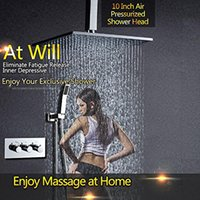 termostato de latão venda por atacado-Termostato Kit de Chuveiro com 10