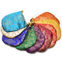 Wholesale Chinese Jewelry Pouches - 500pcs Jewelry Display Mini Jewelry Drawstring Bags Women Jewelry Storage Bag Chinese Silk Embroidery Packaging bags