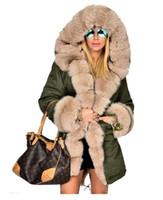 пальто с капюшоном для женщин оптовых-Оптовая роскошные дамы искусственного меха повседневная капюшоном куртка женщин длинные тренч куртка верхняя одежда пальто женщин зимнее пальто размер S-2XL