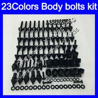 Wholesale yamaha r1 fairings black yellow resale online - Fairing bolts full screw kit For YAMAHA YZFR1 YZF R1 YZF YZF1000 YZF R1 Body Nuts screws nut bolt kit Colors