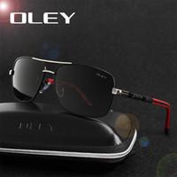 защищать диск оптовых-OLEY Марка поляризованные солнцезащитные очки мужчины новая мода глаза защиты солнцезащитные очки с аксессуарами унисекс очки для вождения oculos де соль