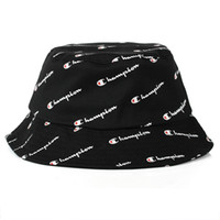 Wholesale 2018 hot Fashion Men Women Hot Champion Bucket Hat brand Outdoor Boonie Cap Unisex Summer Beach Hat