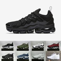 Wholesale Air Concrete - Vapormax TN Plus Olive In Metallic White Silver Colorways Shoes Men Shoes For Running Male Shoe Pack Triple Black Mens airs Shoes