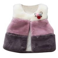 jaqueta de bebê macio venda por atacado-Projeto casaco Macio Crianças Menina Kid Bebê Inverno Coletes Coats Vest Jacket Princesa Outerwear inverno presente de Natal