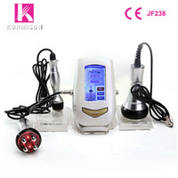 Wholesale ultrasonic skin tightening home use - Ultrasonic Cavitation RF Slimming Machine 3 In 1 Mini Size For Home Use Weight Loss Skin Tightening Face Lifting