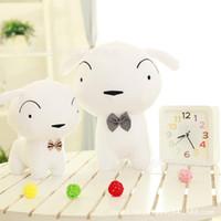 Wholesale plush crayons for sale - Crayon Shinchan White Dog Personality Doll Plush Toy Doll Sleeping Pillow