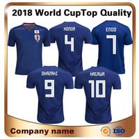 ingrosso camicie honda-Maillot De Foot Sale 2018 World Cup Giappone Soccer Jersey Home 4 per Honda 9 Okazaki 10 Kagawa Camicie Maglia Nazionale Personalizzata Calcio Uniforme