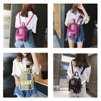 2f55b58a234 Wholesale nude girl canvas for sale - Girls Diamond Rivet Stripe Backpack  Canvas Travel Leisure Backpacks
