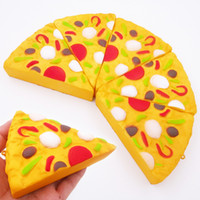 Wholesale pizza toys - Squishy Pizza Squeeze Slow Rising Simulation Pizza Relieve Stress Soft Home Decoration Phone Charms Key Chain Kid Toy Gift