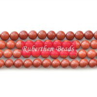 Wholesale NB0046 Natural Loose Beads Stone Red Jasper Beads High Quantity Stone mm Round Beads for Making Jewelry