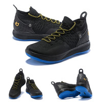Wholesale kd boots size online - new top KD mens Basketball Shoes zoom chushion basketball boots Oreo white gold ice blue knitting basketball trainers for men size US7