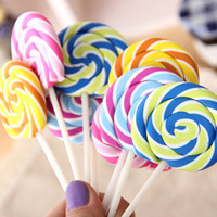 Wholesale lollipop erasers for sale - Group buy Random Cute Kawaii Cartoon Lollipop Rubber Erasers for Kids Lovely Creative Stationery Gift