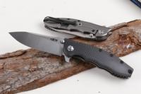 cuchillos de bolsillo de alto carbono al por mayor-High End ZT ZT0562 Cuchillo plegable de supervivencia Flipper, tanto cuchilla Stonewash de punto, IKBS, cuchillo de bolsillo EDC para excursiones al aire libre