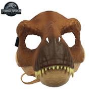 adulto de uma peça venda por atacado-Original mundo 2 dinossauro realista máscara de uma peça brinquedos adereços cosplay halloween trajes de brinquedo para crianças adultos