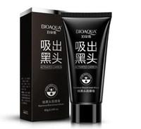 removendo o nariz dos cravos pretos venda por atacado-BIOAQUA Limpeza Profunda Máscara Facial de lama preta Remover cravo máscara facial nariz de morango Removedor de acne cuidados Facial