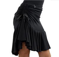 saias latinas pretas venda por atacado-Mulheres latinas salsa tango rumba cha cha salão de baile vestido de dança saia preto roxo quadrado dancewear dancewear para as mulheres