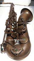 instrumentos antiguos al por mayor-Logotipo personalizable Envío Gratis Profesional Tenor Bb Saxophone Brass Vintage Copper Surface Instrument With Case