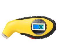 air gauge for motorcycle 도매-LCD 디지털 5.0-100 PSI 백라이트 타이어 TyreTester 압력계 기압계 자동차 오토바이 KPA 바 기압계