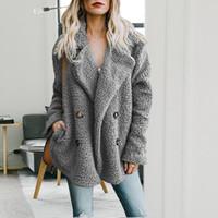 Damen Cardigans Damen Jacken Wintermantel Damen Warm Jumper Fleece Kunstpelz Mantel Hoodie Outwear Manteau Femme Plus Größe 4XL