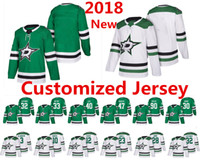 Wholesale Dallas Hockey Jerseys - 2018 New Season Dallas Stars Customized Jersey John Klingberg Hanzal Faksa Johns Lehtonen Radulov Spezza Accept custom Hockey Jerseys