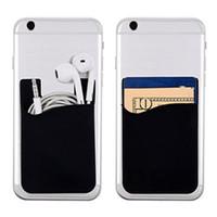 telefonlar için 3m yapışkan toptan satış-Taşınabilir tasarımcı kart tutucu lüks Telefon cüzdan Otobüs Kartı İş Kredi KIMLIK Kartı Tutucu Kılıf Cep 3 M Yapıştırıcı Moda Sticker