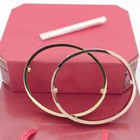 zincir halka bileziği toptan satış-Erkekler için sıcak altın zincirler 316 paslanmaz çelik bileklik lüks tasarımcı takı kadın bilezikler vida aşk bilezik alyans setleri ile çanta