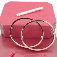 edelstahl armband armband gesetzt großhandel-HOT gold ketten für männer 316 edelstahl armreif luxus designer schmuck frauen armbänder schraube liebe armband hochzeit ringe sets mit tasche