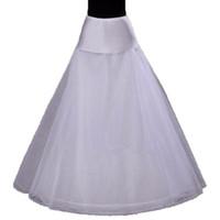 Wholesale line wedding dress hoop petticoat resale online - 2018 Hot Sale Hoop A Line Bone Petticoats For Wedding Dress Wedding Underskirt Accessories Slip With Lace Trim