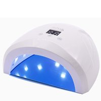 Wholesale red timer resale online - LED Lamp Nails Nail Dryer Lamp W UV for Nails USB Charging Portable LEDs with Infrared Sensor Timer Nail Dryer UV
