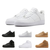 Wholesale high cut skate shoes - 2018 White low forces Classical low high cut men & women Sports sneakers Running Shoes Forceing one skate Shoes US size 36-45