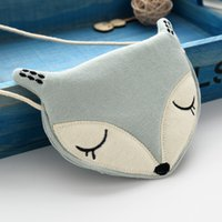 Wholesale cute accessories purses girls resale online - Lovely mini one shoulder bag coin purse cute fox girls messenger bag baby accessories an ideal gift for good