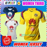 Wholesale America Mexico - NEW 17 18 LIGA MX Mexico Club America Third Yellow Women Soccer Jerseys 2018 Chivas Camiseta de futbo Girl lady football shirts Size XL