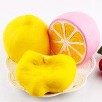 Wholesale Lemon Charms - Cute Squeeze Toys Large Size Jumbo Slow Rising Squishy Charm Kawaii Squishies Half Lemon Fruit Scented Decompression Anxiety Toy For Adult