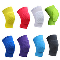 Wholesale Knee Protector Kids - 2018 Kids safety basketball knee pads for Children honeycomb pad Leg knee support Football Mini kneecap cycling Outdoor Play knee protector