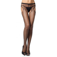 Wholesale lace open bodysuit - Sexy Open Soft Tights Lingerie women's stockings Transparent Black Erotic Lace Bodysuit stockings female erotic