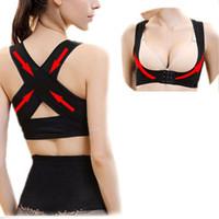 жилет на спине оптовых-Good Quality Girl Lady Chest Brace Support Belt Posture Back Shoulder Corrector Vest M-XL T8