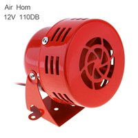 Wholesale car sirens - Universal 12V Red Automotive Motorcycle Horns Air Raid Siren Horn Car Truck Motor Driven Alarm Loudspeaker AUP_44B