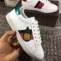 ботинки из ананаса оптовых-Роскошные туфли мужчины Повседневная обувь ананас шаблон роскошные бренды дизайнер кроссовки шнуровке кроссовки Женщины Повседневная дизайнер обуви