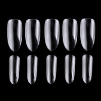 black white ballerina Canada - Biutee 500pcs Ballerina False Nail Art Tips Clear White Full Cover Acrylic 10 Sizes Coffin fake Nails Set For DIY Nail Salo
