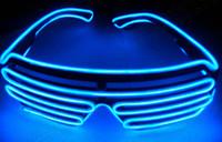 nueva iluminación de escenario al por mayor-2018 nuevo Led light Eyeglass Men And Women Stage Performance EL Wire LED Light Gafas Carnival Festival Accesorios del partido