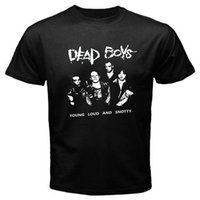 дизайн панк-майка оптовых-Тройник дизайн мужской Новый The Dead Boys Punk Rock Band логотип мужская черная футболка размер S-3XL с коротким рукавом обычная футболка с круглым вырезом
