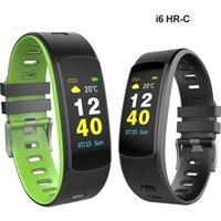 rastreador c al por mayor-Pantalla a color i6 hr c pulsera inteligente i6 HR C Smartband con monitor de ritmo cardíaco Pulsera con Fitness Tracker Banda deportiva