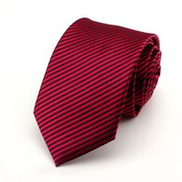 Wholesale casual suits for men weddings - Polyester Plain Ties For Men Wedding Suit Slim Classic Solid Color Neck Tie Casual Pure 7cm Red Tie