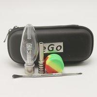 fermeture à glissière achat en gros de-1 pcs Nector Kit de collecteurs EGO Zipper Case Kit Honeybird avec titane Nail Silicon Jar SS Dabber Grade 2 Verre Eau Bongs