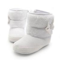 детская обувь вязание крючком обувь оптовых-Winter Warm First Walkers Baby Ankle Snow Boots Infant Crochet Knit Fleece Baby Shoes For Boys Girls