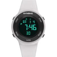 montres électroniques amant achat en gros de-Unisexe extérieure alarme étanche bande plastique affichage de la date couple amant sport numérique électronique montre-bracelet Relojes